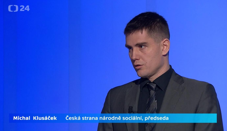 Michal Klusáček v Politickém spektru